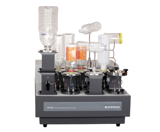 8701 oxygen permeation analyser with adaptors