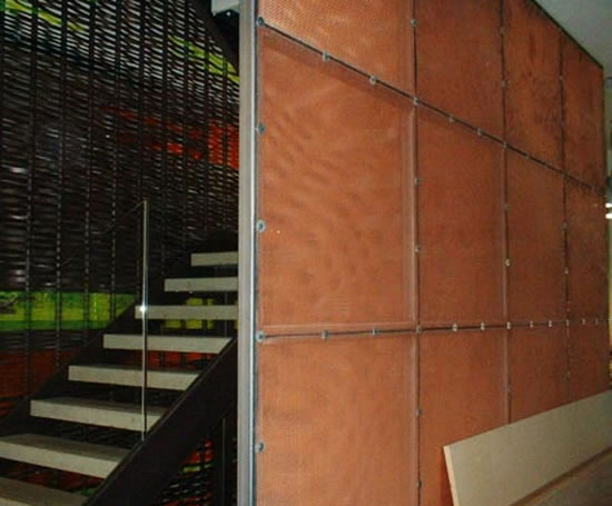 Expanded Mesh Interior Wall Panels | Expanded Metal Company | ESI Interior  Design