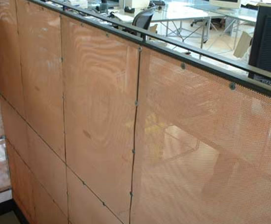 Expanded Mesh Interior Wall Panels Expanded Metal Company Esi Interior Design