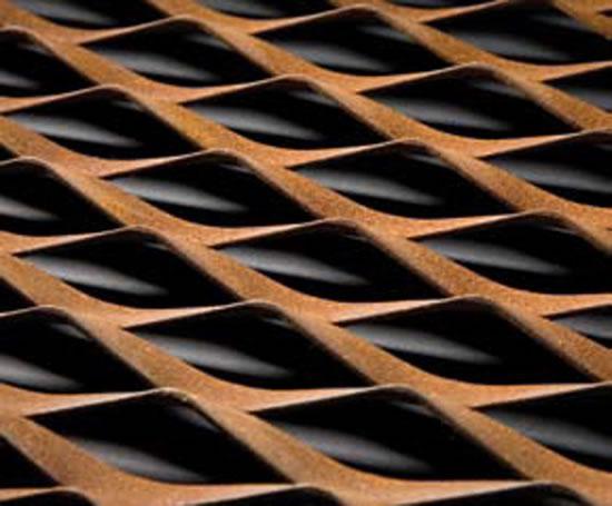steel mesh brown corten corten steel architecture. Black Bedroom Furniture Sets. Home Design Ideas