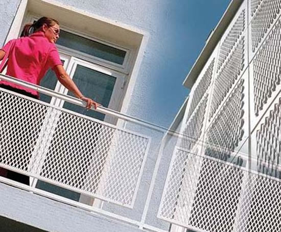 Balcony protection expanded metal mesh products - china prod.