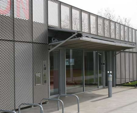 Expanded Metal Panels : Expanded mesh wall panels metal company esi
