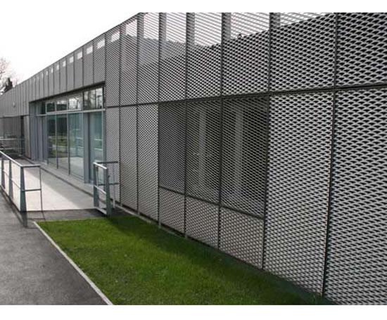 Expanded Metal Panels : Mesh wall panels pavilion perimeter stonebridge park