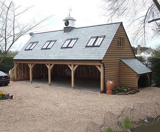 detached garage conversion ideas uk - Oak framed garages Round Wood of Mayfield