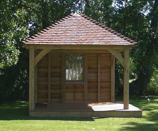 Oak framed garden buildings round wood of mayfield esi for Round garden buildings