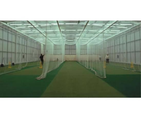 Bespoke indoor cricket practice nets tildenet esi for Indoor cricket net design