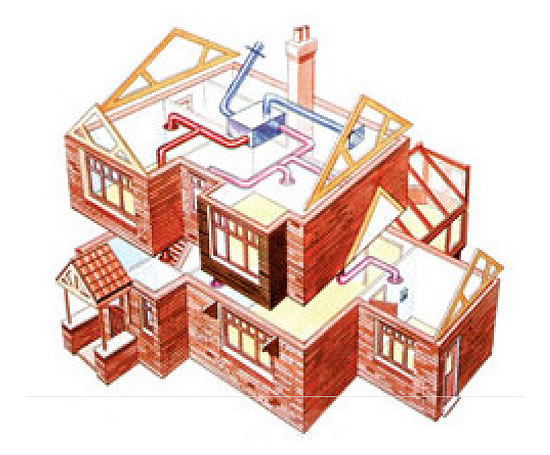 Whole House Mechanical Ventilation System : Hrv whole house ventilation system timberwise esi