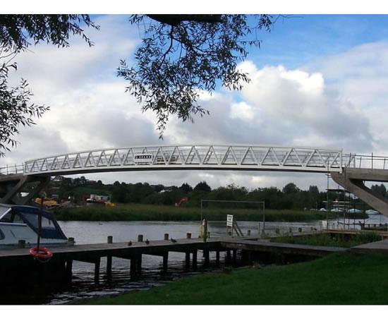 40m Warren truss footbridge, Derrychara
