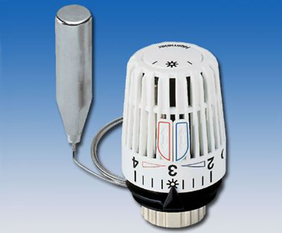 Heimeier K thermostatic head with a remote sensor