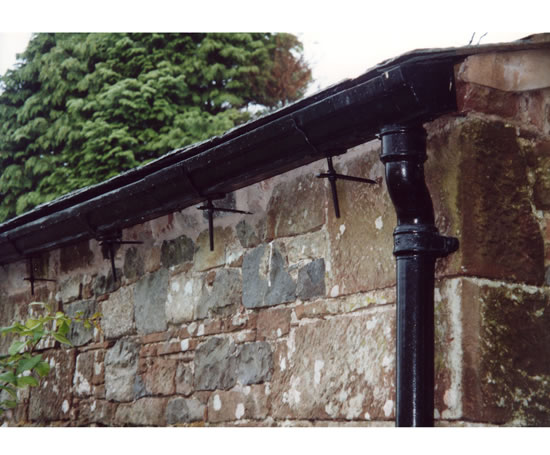 Common Half Round Cast Iron Gutters Tuscan Foundry