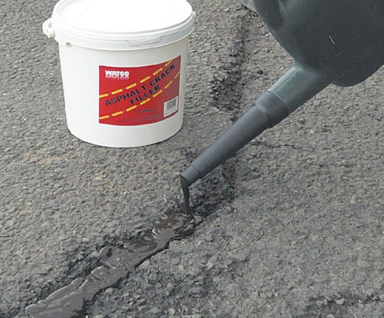 how to fix blacktop cracks