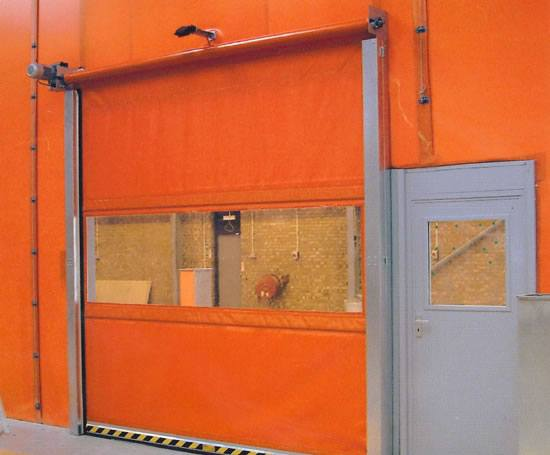 Fastflex® Roll high-speed industrial doors | Westgate Factory Dividers | ESI Building Design & Fastflex® Roll high-speed industrial doors | Westgate Factory ...