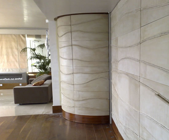 Leather Walling Tiles And Panels Cleverleather Esi