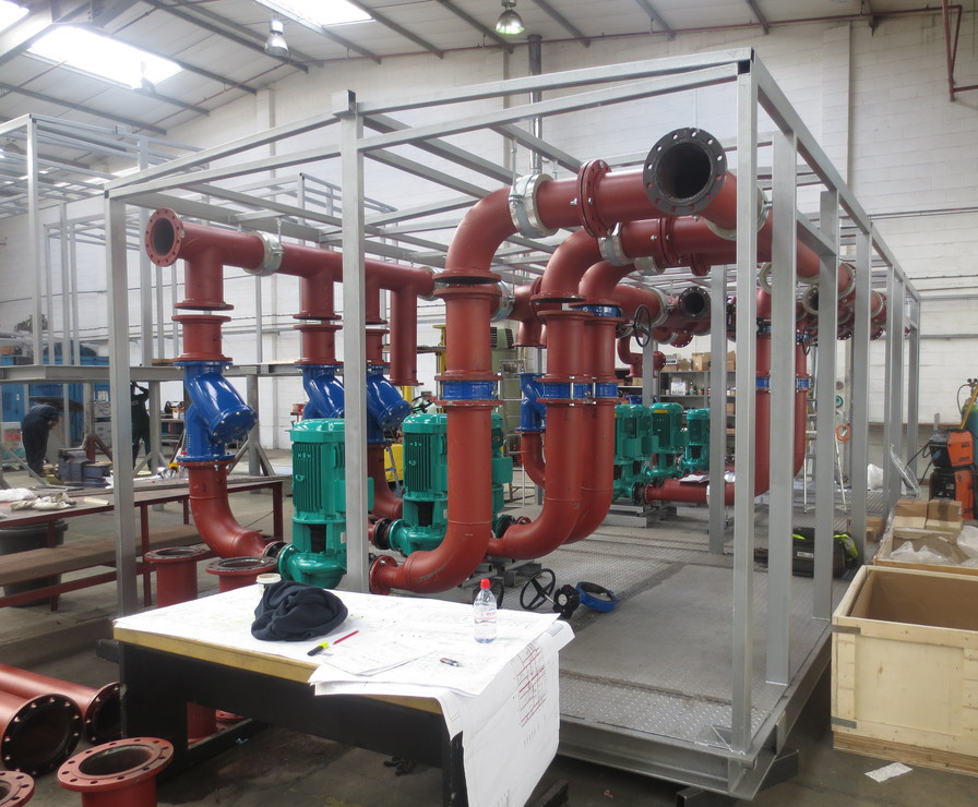 chilled water pump hook up