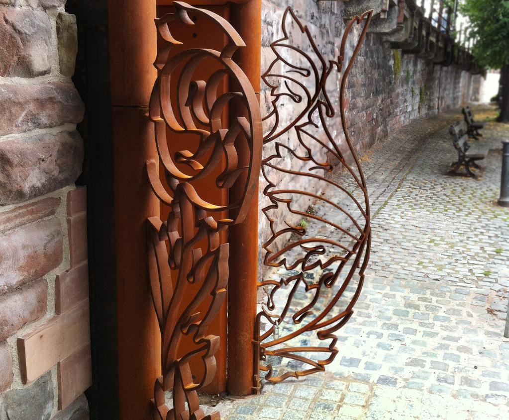 Bespoke corten gate, Chester Roman Gardens   Chris Brammall   ESI ...