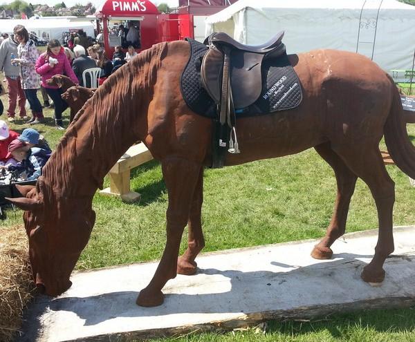 Lifesize Grazing Horse Statue