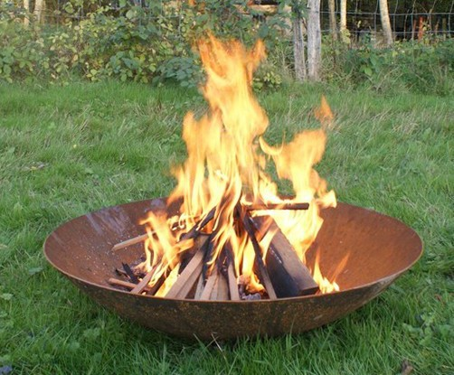 Corten Steel fire pit burner - Corten Steel Fire Pits Reduced! Round Wood Of Mayfield ESI