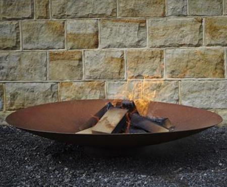 Corten steel fire pit wood burner bowl - Corten Steel Fire Pit Wood Burner Bowl Round Wood Of Mayfield