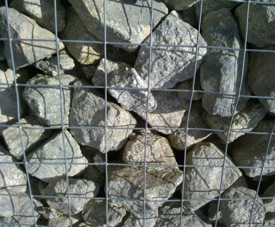 Carnsew granite gabion stone | Colas | ESI External Works