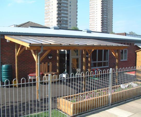 Bespoke canopy shelter & Bespoke timber canopy shelters | Setter Shelters | ESI External Works