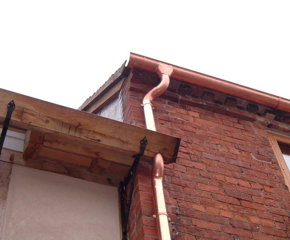 Bespoke copper rainwater solution, residential extension