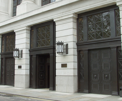 Bronze doors County Hall London & Restoration of bronze entrance doors County Hall | Antique Bronze ...