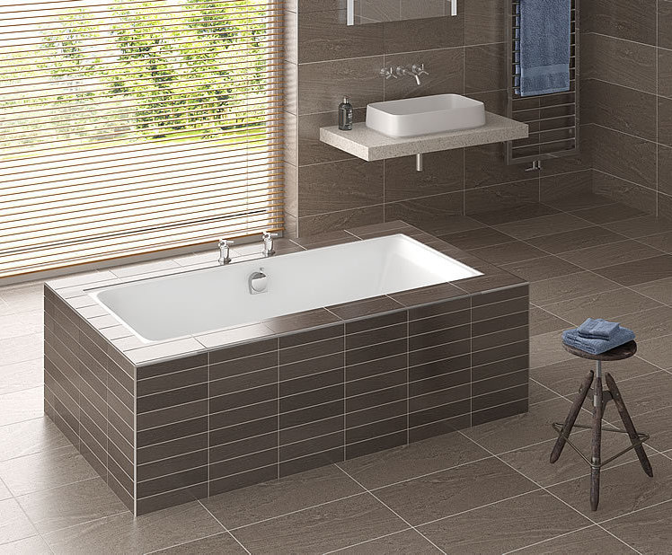 Serenity double-ended rectangular bath