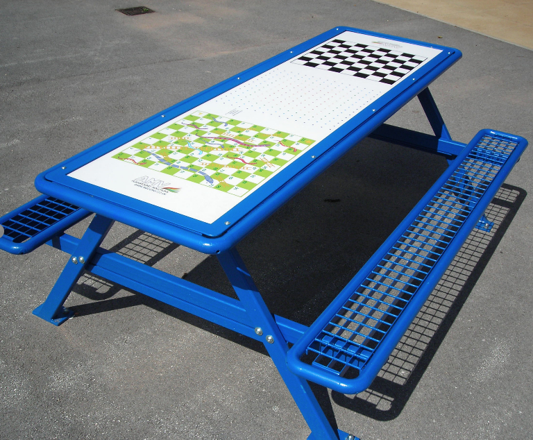 Playground Picnic Tables With Optional Activity Tops AMV - Playground picnic table
