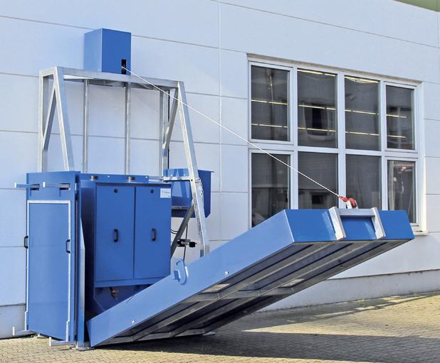 WK-Flexline discharging station for chemicals