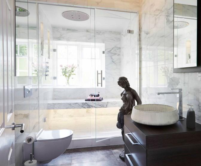Bespoke luxury bathroom with steam room - Breydon Court   Drom UK ...