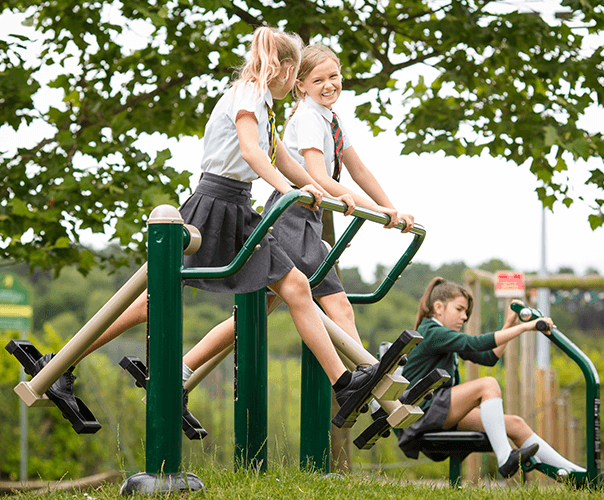 9-piece outdoor gym installation for primary school