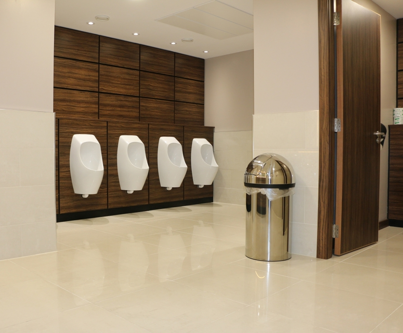 Eco-friendly waterless urinals for busy conference hotel
