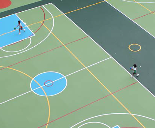 SPORTEC® UNI Classic EPDM rubber indoor sports flooring | TVS Sports