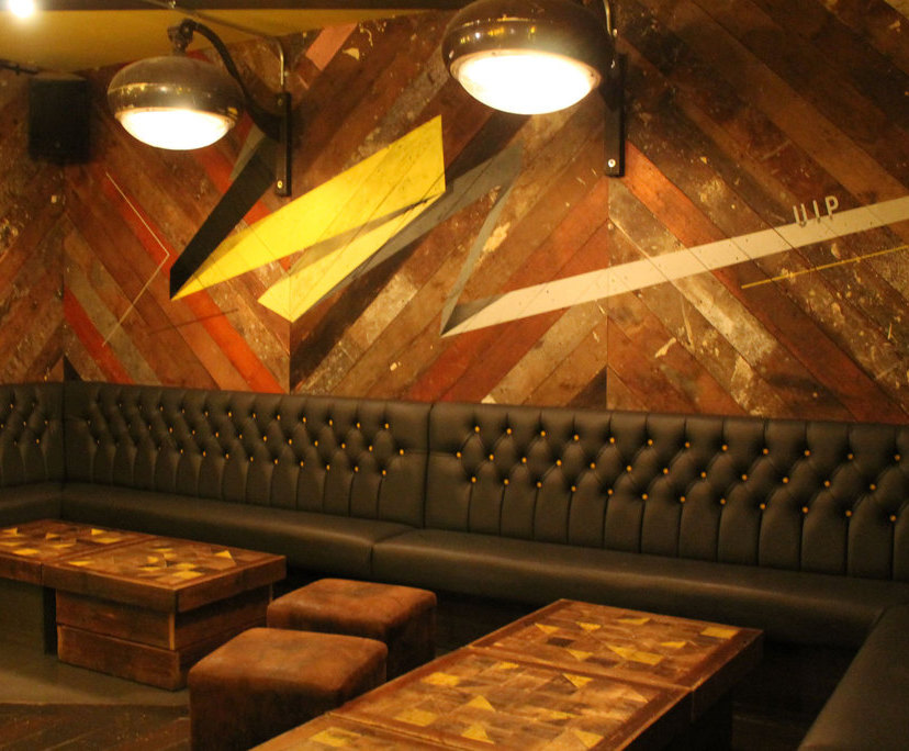 Banquette and VIP booth seating - Matchbox bar and club   Fitz ... on