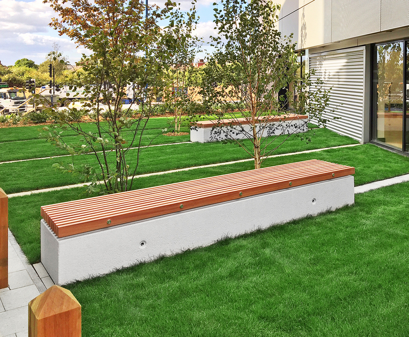 Admirable Soca Concrete And Timber Bench Factory Furniture Esi Beatyapartments Chair Design Images Beatyapartmentscom