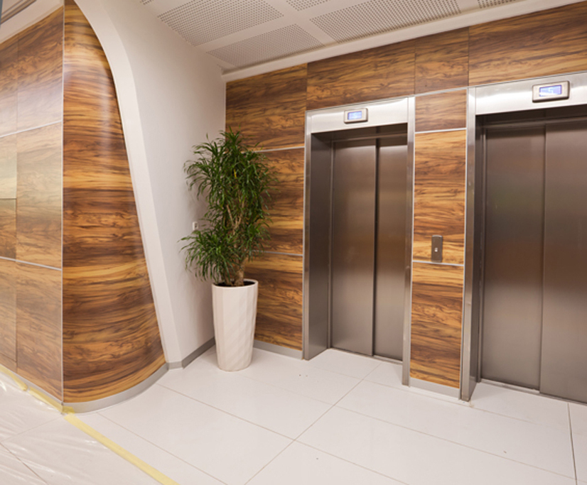 FormicaR Compact In Couture Wood For South Port Foyer