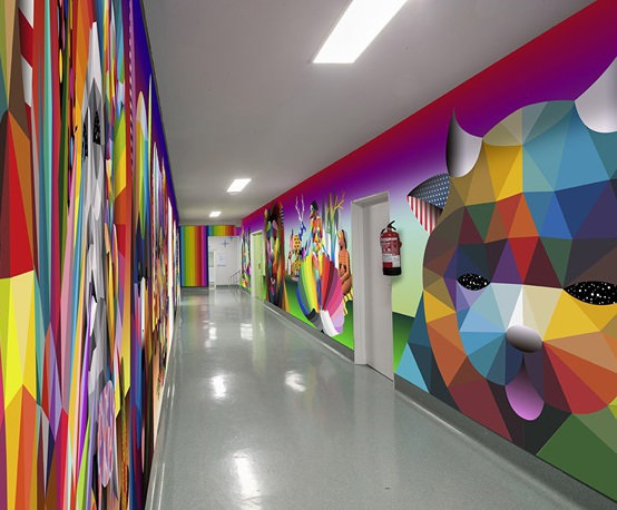 Younique® decorative laminate wall panels for hospital