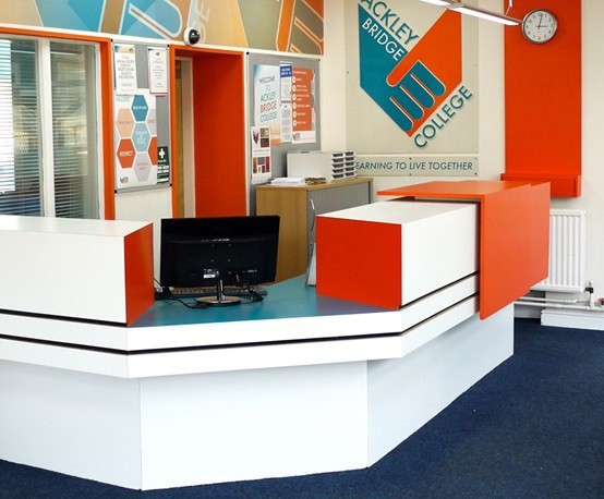 Formica® laminate for Channel 4's Ackley Bridge College
