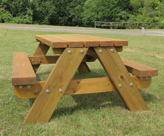 Stark Timber Picnic Table Furnitubes International ESI External - Timber picnic table