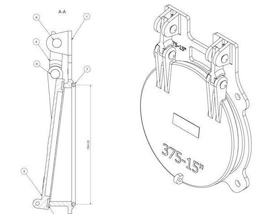 Althon 375mm Ductile Iron Flap Valve