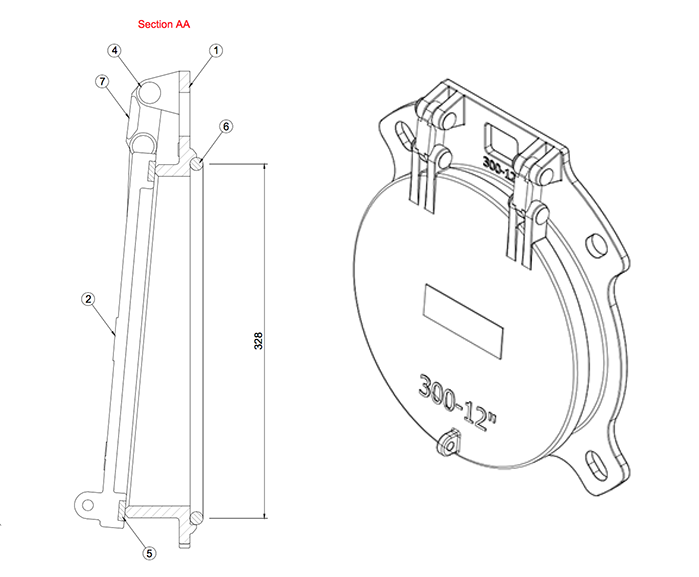Althon 300mm Ductile Iron Flap Valve