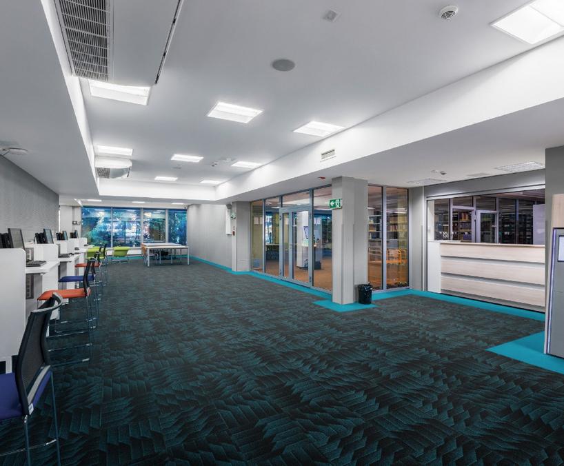 Odyssey fibre bonded commercial carpet tiles