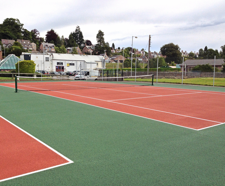 Synthetic Tennis Court Surface Installation Hunter Construction