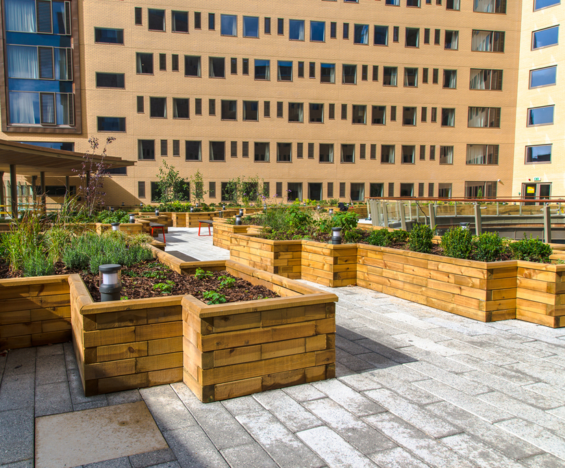 WoodBlocX™ raised planter beds