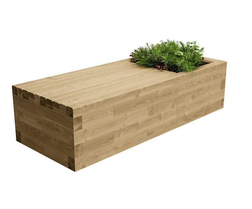 Woodblocx Mcdui Wooden Planter Bench Woodblocx Esi External Works