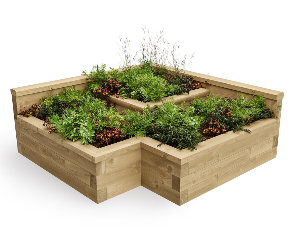 Pre-designed timber raised bed kits   WoodBlocX   ESI ... on raised wooden beds, raised wooden walkways, raised hot tub, raised flower pots, raised rectangular planter, raised wooden decks, backyard planters, curved outdoor planters, raised wooden ponds,