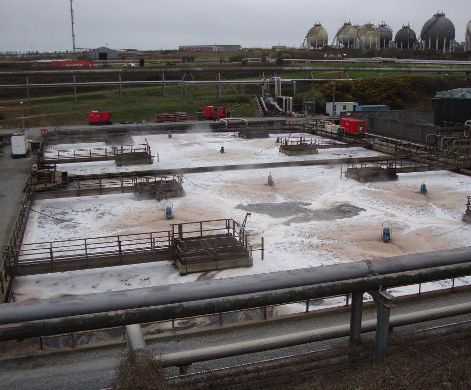 Aerators reduce high COD loadings at effluent plant