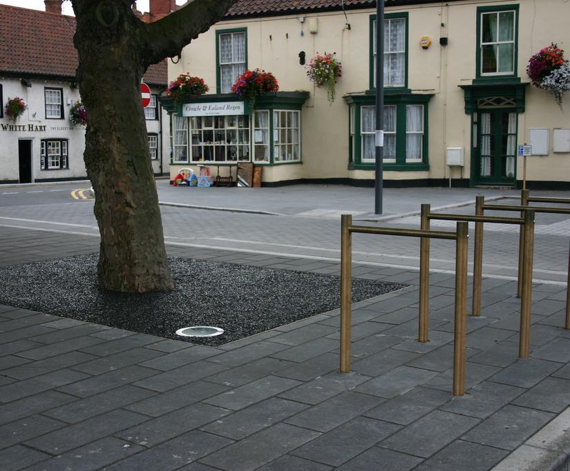 Bronze street furniture - Crowle Market Square