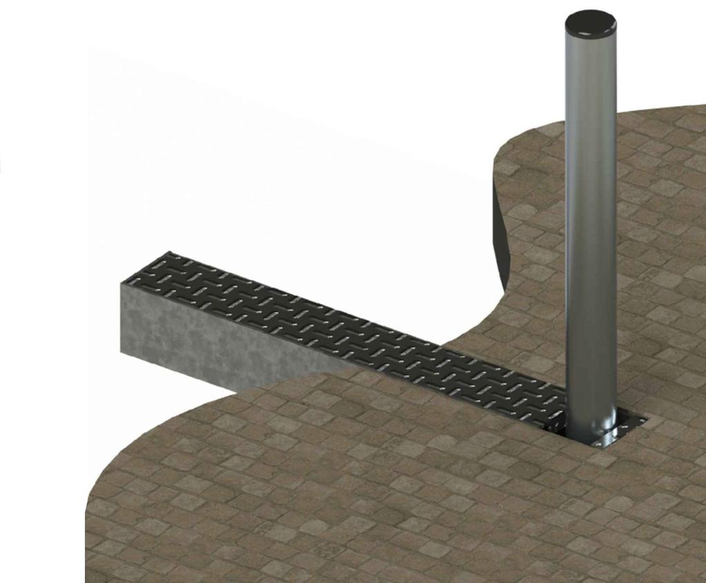 ASF 650 folding steel/stainless steel bollard