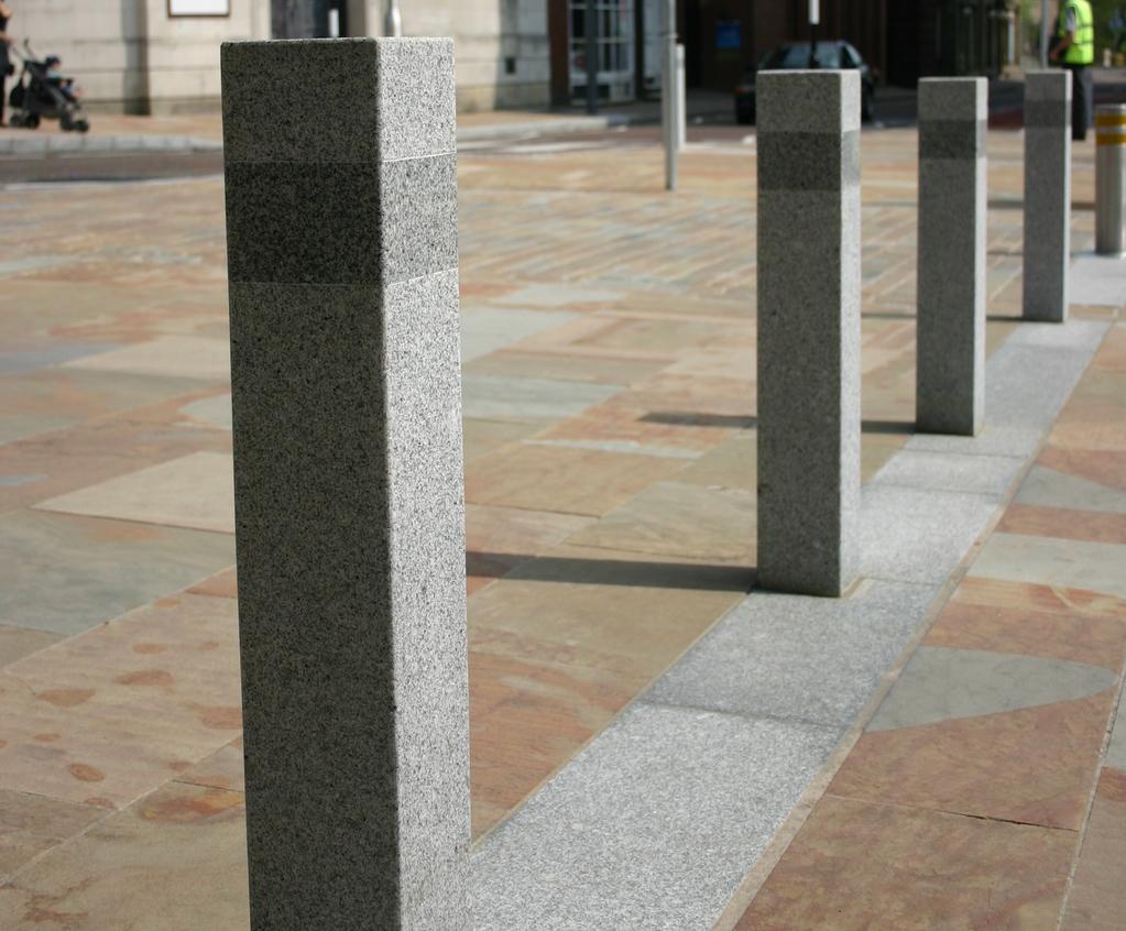 ASF 150 Cubist granite bollard   Architectural Street